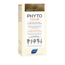 PHYTO COLOR No 8.3 Złoty Blond - Farba do włosów, ( 50 ml+ 50 ml +12 ml)