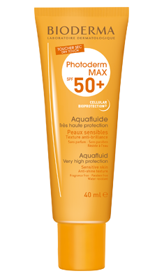 BIODERMA PHOTODERM MAX AQUAFLUIDE SPF 50+ Fluid ultra - lekki, bezbarwny; 40 ml
