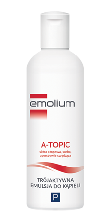EMOLIUM A-TOPIC Trójaktywna Emulsja do kąpieli, 200 ml