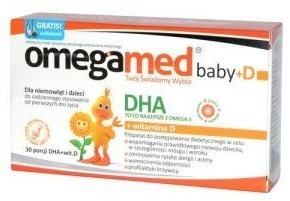 Omegamed B+ DHA 150 mg + Wit.D 400 30kaps