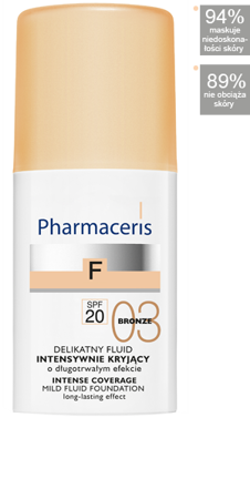 PHARMACERIS F Fluid kryjący 03 BRONZ, 30ml
