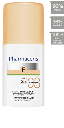 PHARMACERIS F Fluid matujący  03 TANNED, 30 ml