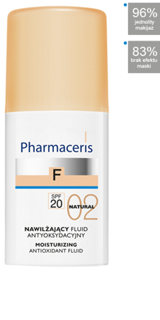 PHARMACERIS F Fluid nawilżający 02 NATURAL,30ml