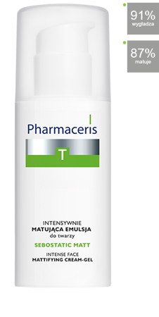 PHARMACERIS T SEBOSTATIC MATT SPF10 Krem, 50ml