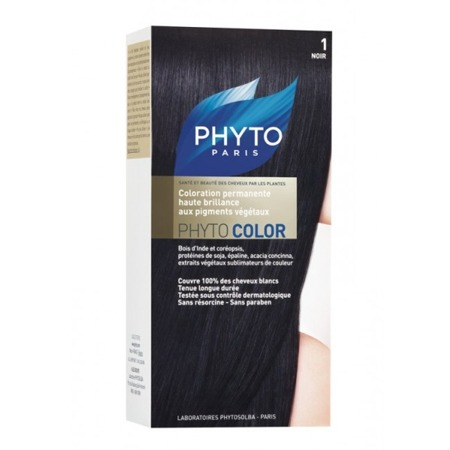 PHYTO COLOR No 1 Czarny, (40+60+12)ml